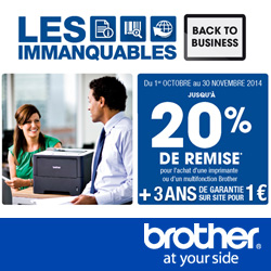 Brother banner Immanquable d'octobre