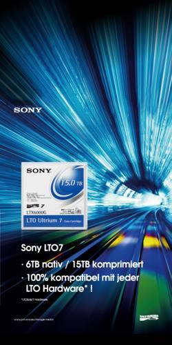 Neu: Sony LTO7 Tapes bei dexxon