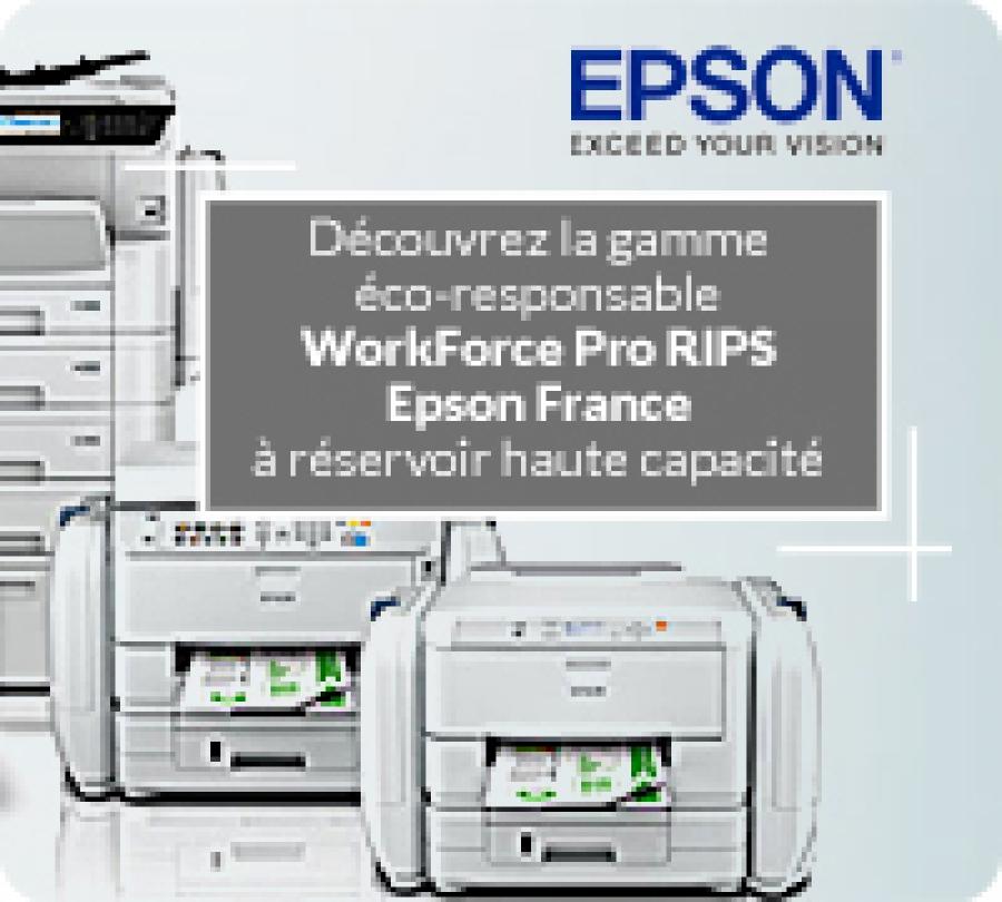 Nouveau : la gamme éco-responsable WorkForce Pro RIPS Epson