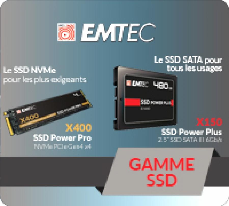 Emtec disque SSD interne et externe
